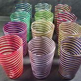 Set of 12 Signed Murano Water Glasses in assorted colors