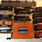 Vintage Lionel train cars from the 1960s and track type O gague